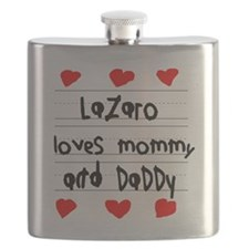 Lazaro Loves Mommy and Daddy Flask
