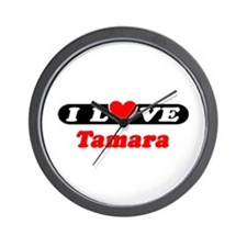 I Love Tamara Wall Clock