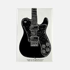 """""""Bad Black"""" Guitar Rectangle Magnet"""