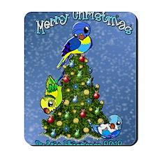 Christmas Budgies Mousepad