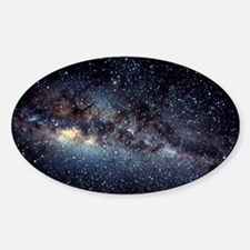 Optical image of the Milky Way in t Sticker (Oval)