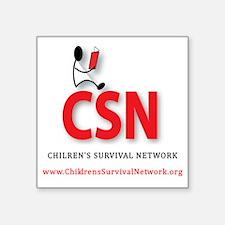 "CSN Logo Square Sticker 3"" x 3"""
