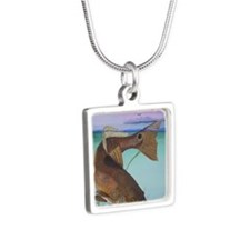 STRIKEING FEAR Silver Square Necklace