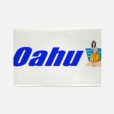 Oahu, Hawaii Rectangle Magnet