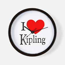 I Love Kipling Wall Clock