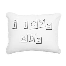 I Love Abe Rectangular Canvas Pillow