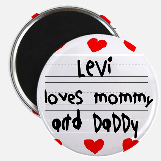 Levi Loves Mommy and Daddy Magnet
