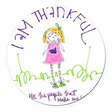 Thanksgiving Round Car Magnet