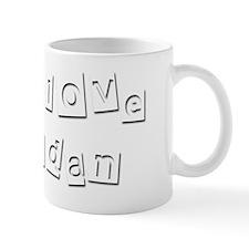 I Love Adan Mug
