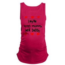 Layne Loves Mommy and Daddy Maternity Tank Top