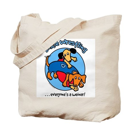 Doxie Wrestling Tote Bag