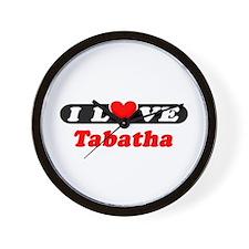 I Love Tabatha Wall Clock