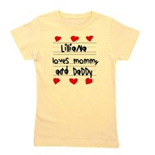 Lilliana Loves Mommy and Daddy Girl's Tee
