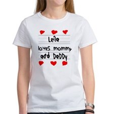 Leila Loves Mommy and Daddy Tee