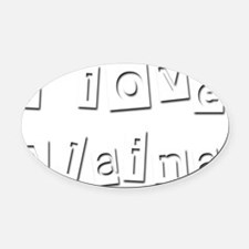 I Love Alaina Oval Car Magnet