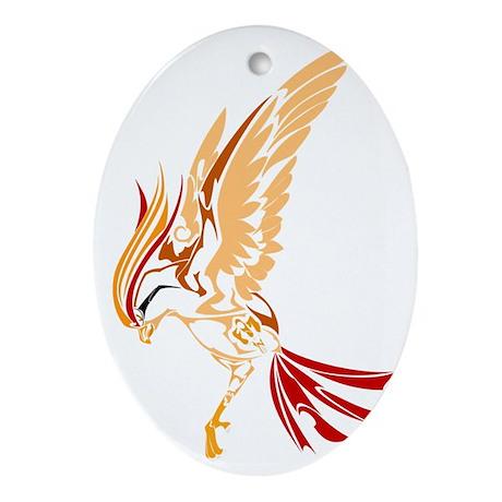 Tribal style bird Oval Ornament