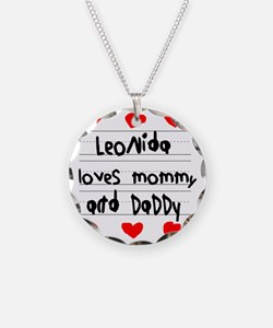 Leonida Loves Mommy and Dadd Necklace