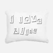 I Love Alisa Rectangular Canvas Pillow