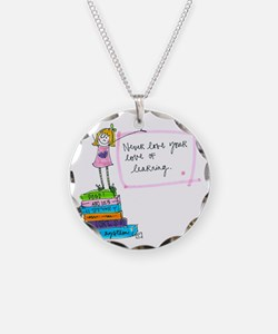 Good For Your Brain Necklace Circle Charm
