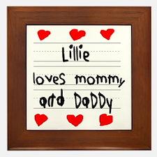 Lillie Loves Mommy and Daddy Framed Tile
