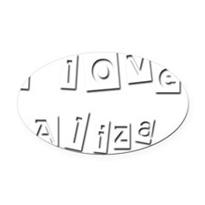I Love Aliza Oval Car Magnet