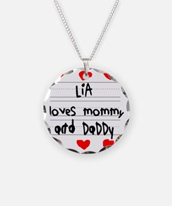 Lia Loves Mommy and Daddy Necklace