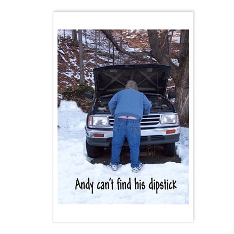 Andy can't find his dipstick Postcards (Package of