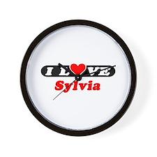 I Love Sylvia Wall Clock