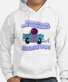What's Purple and Commutes ? Hoodie