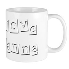 I Love Alanna Small Mug