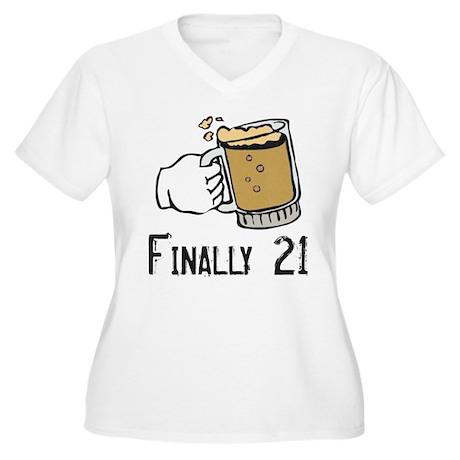Finally 21 Women's Plus Size V-Neck T-Shirt