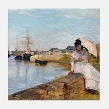 Berthe Morisot The Harbor at Lorient Tile Coaster