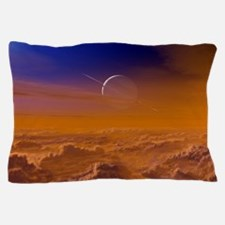 Saturn from the surface of Titan Pillow Case