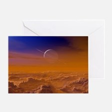 Saturn from the surface of Titan Greeting Card