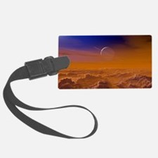 Saturn from the surface of Titan Luggage Tag