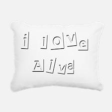I Love Alva Rectangular Canvas Pillow