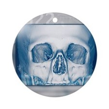 Skull, 3-D CT scan Round Ornament