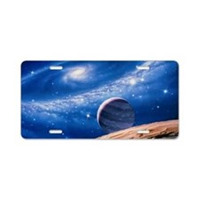 Ring galaxy Aluminum License Plate