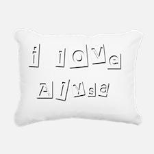 I Love Alysa Rectangular Canvas Pillow
