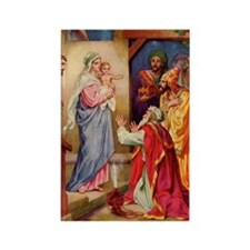 The Visit by the Three Wise Men Rectangle Magnet