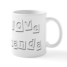 I Love Amanda Mug