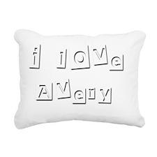 I Love Avery Rectangular Canvas Pillow