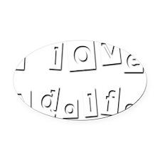 I Love Adolfo Oval Car Magnet