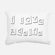 I Love Adolfo Rectangular Canvas Pillow