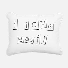 I Love Basil Rectangular Canvas Pillow