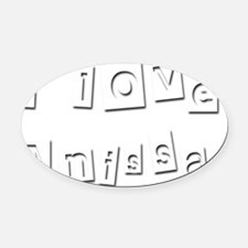 I Love Anissa Oval Car Magnet