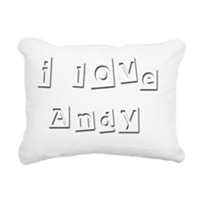 I Love Andy Rectangular Canvas Pillow