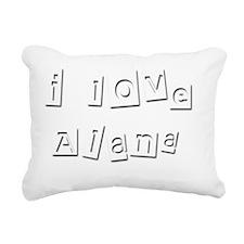 I Love Alana Rectangular Canvas Pillow