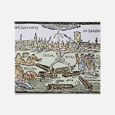 Plague in London, 1625 Throw Blanket