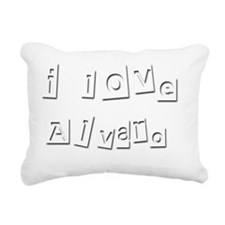 I Love Alvaro Rectangular Canvas Pillow